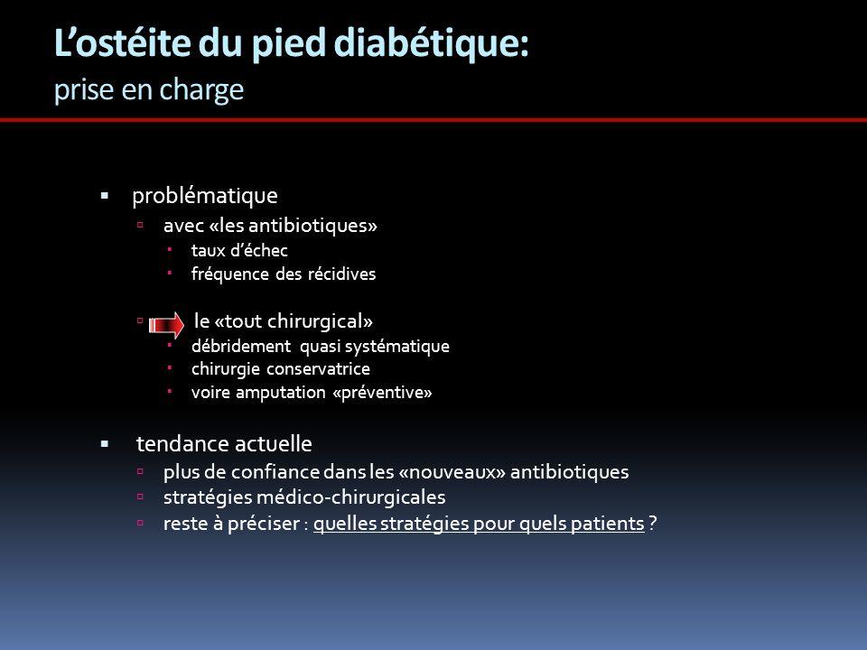 L'ostéite du pied diabétique: prise en charge