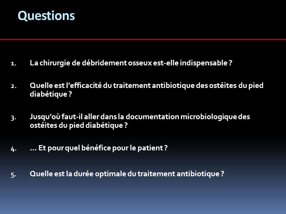 Questions La chirurgie de débridement osseux est-elle indispensable