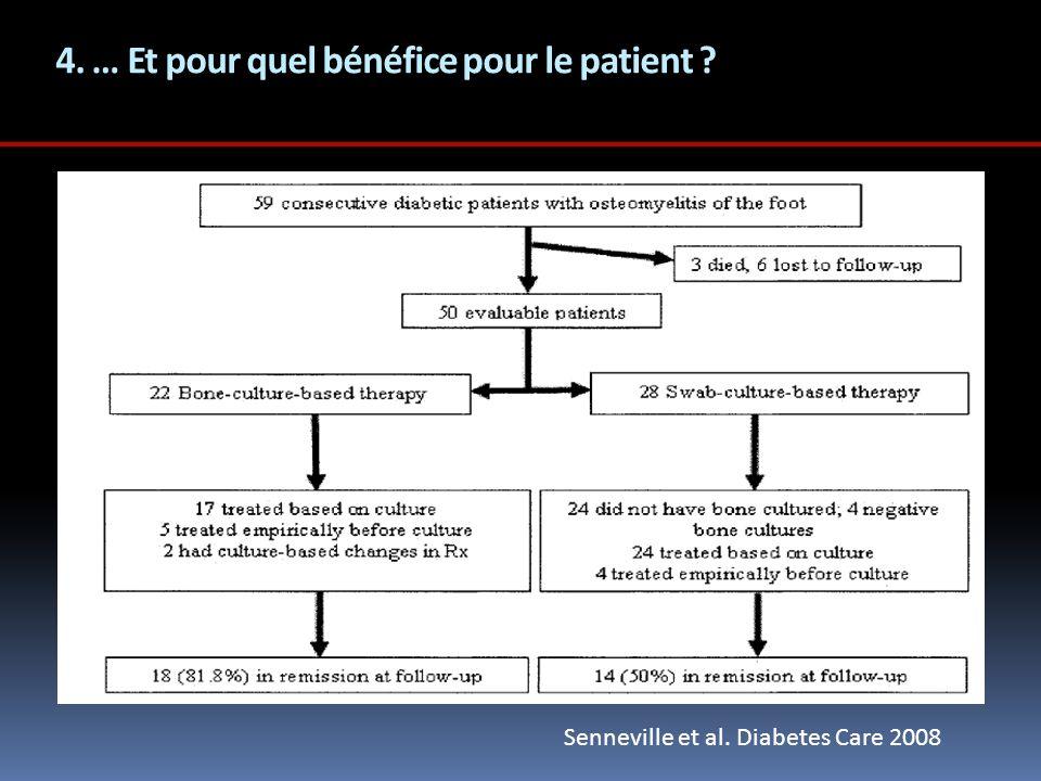 4. … Et pour quel bénéfice pour le patient
