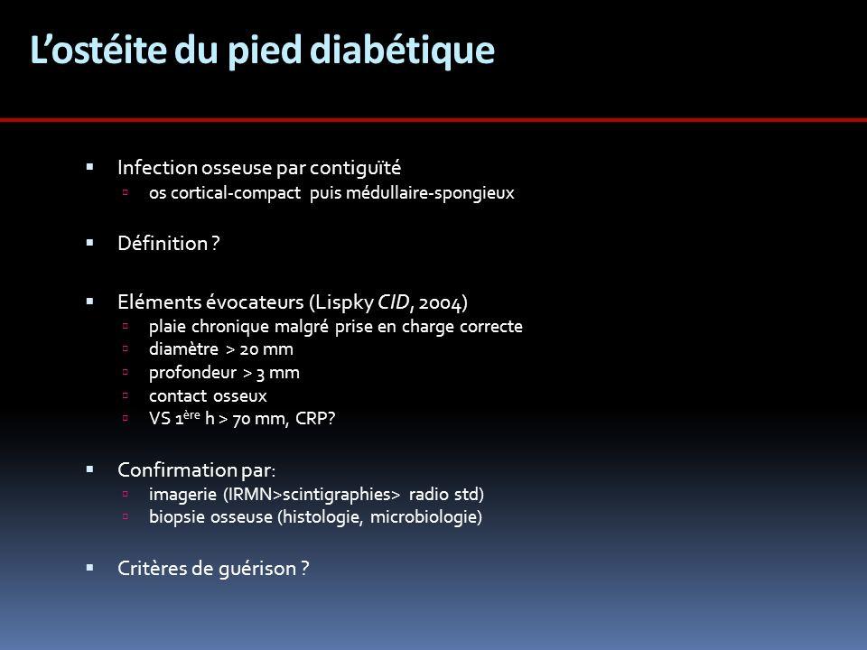 L'ostéite du pied diabétique