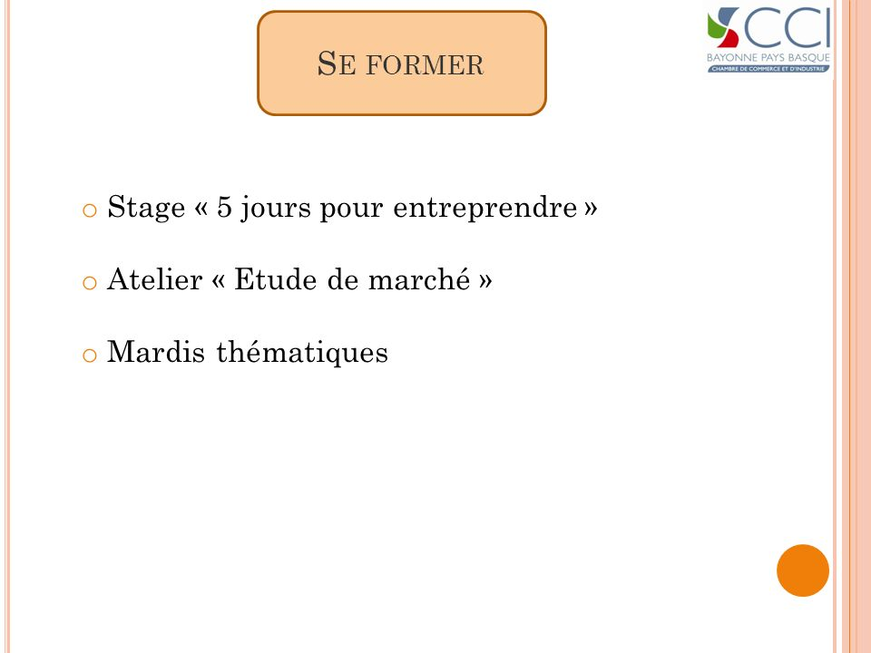 Se former Stage « 5 jours pour entreprendre »