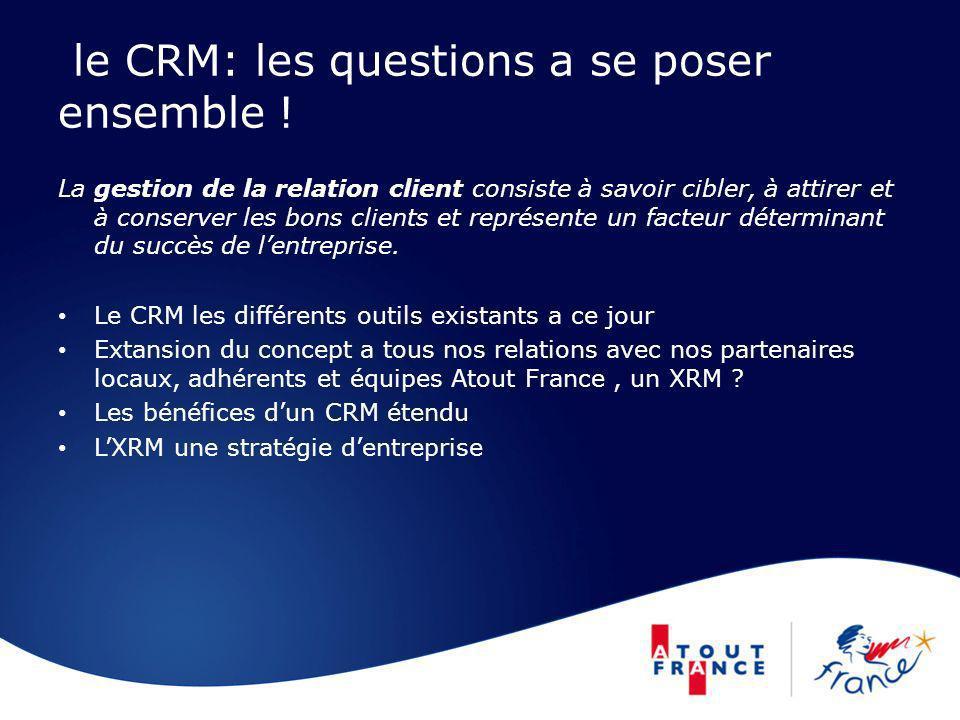 le CRM: les questions a se poser ensemble !