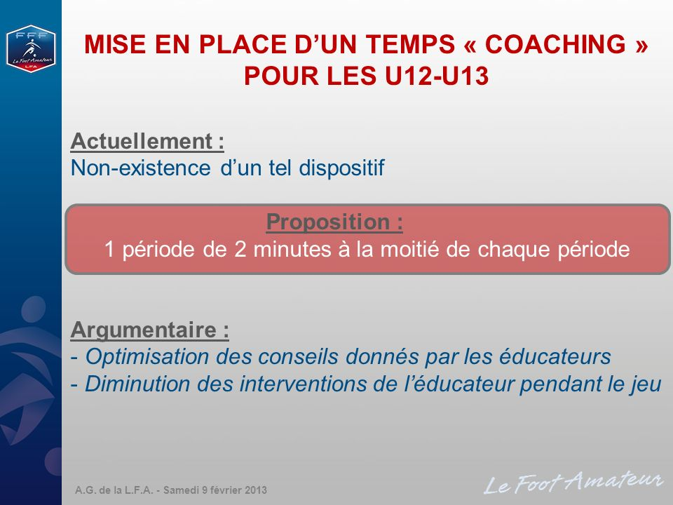 MISE EN PLACE D'UN TEMPS « COACHING »