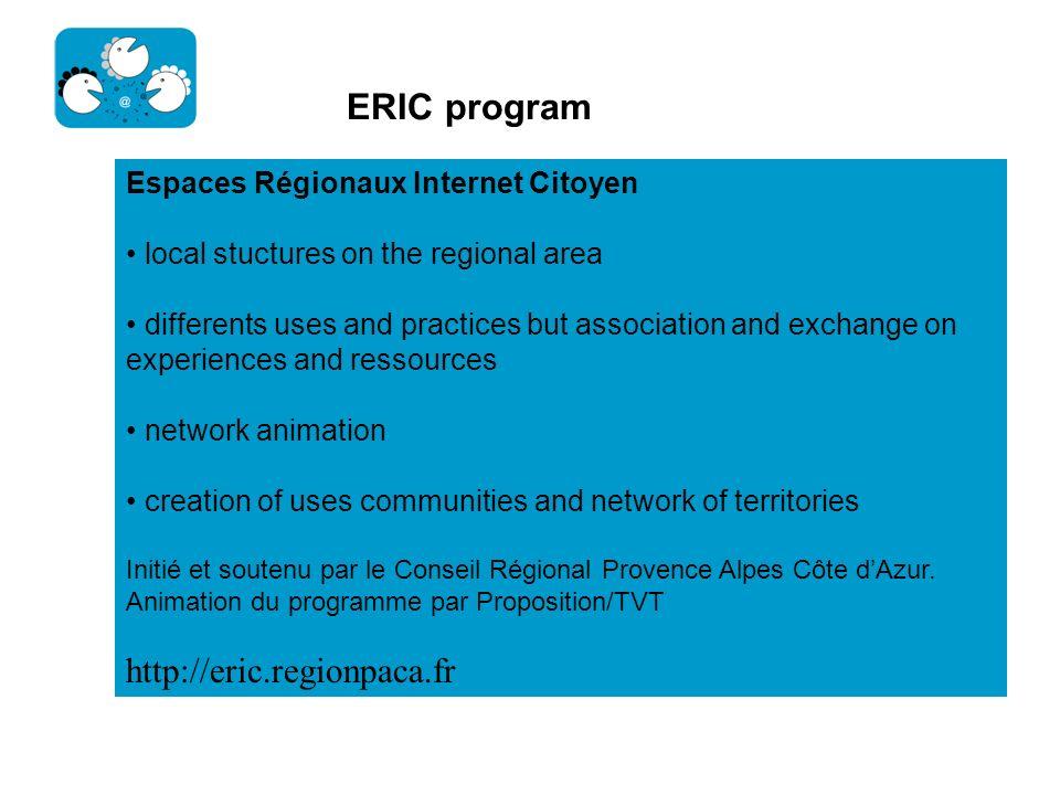 ERIC program http://eric.regionpaca.fr