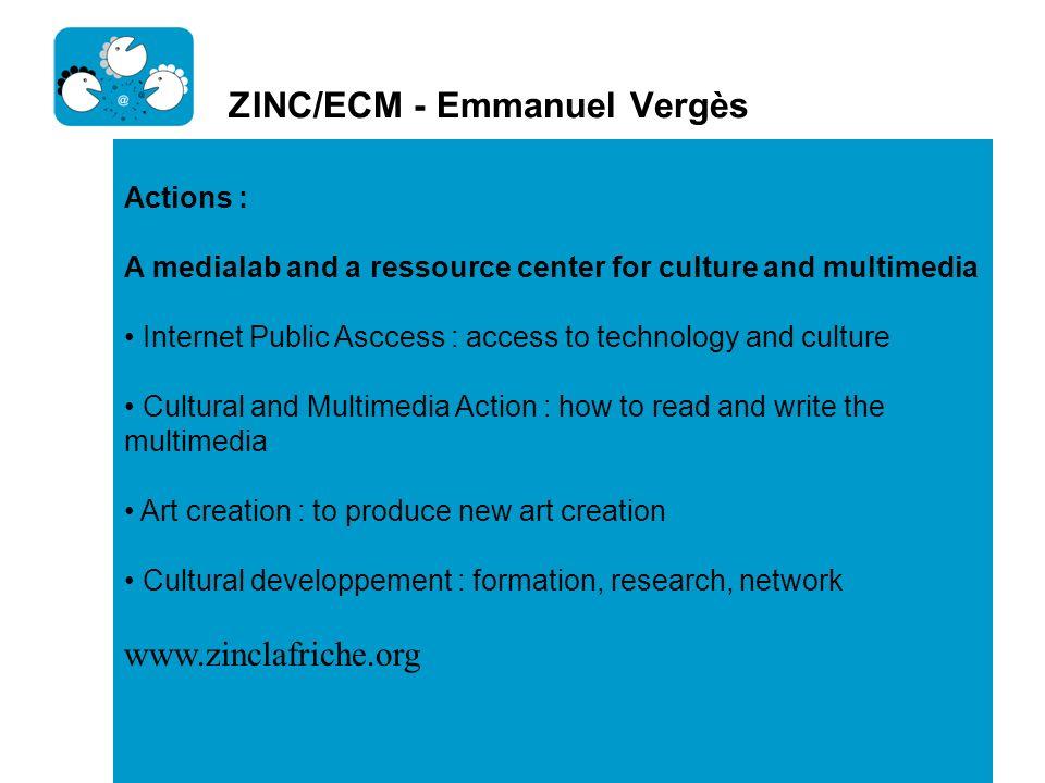 ZINC/ECM - Emmanuel Vergès