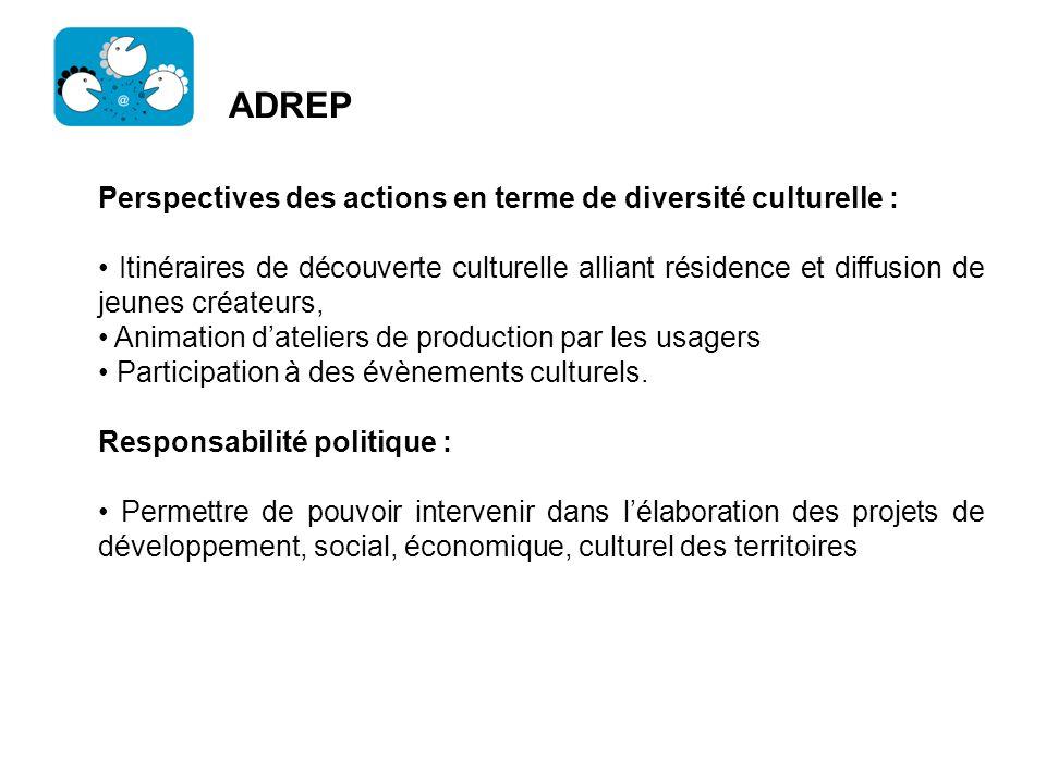 ADREP Perspectives des actions en terme de diversité culturelle :