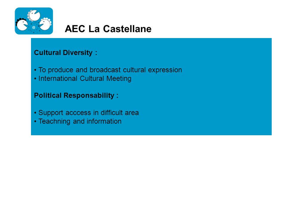 AEC La Castellane Cultural Diversity :