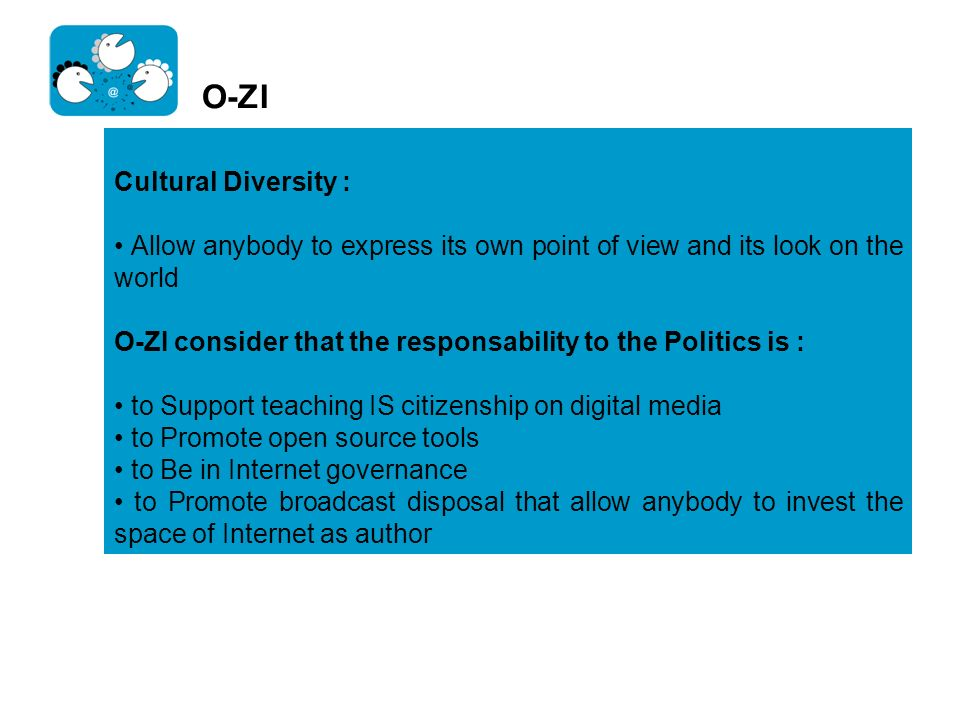 O-ZI Cultural Diversity :