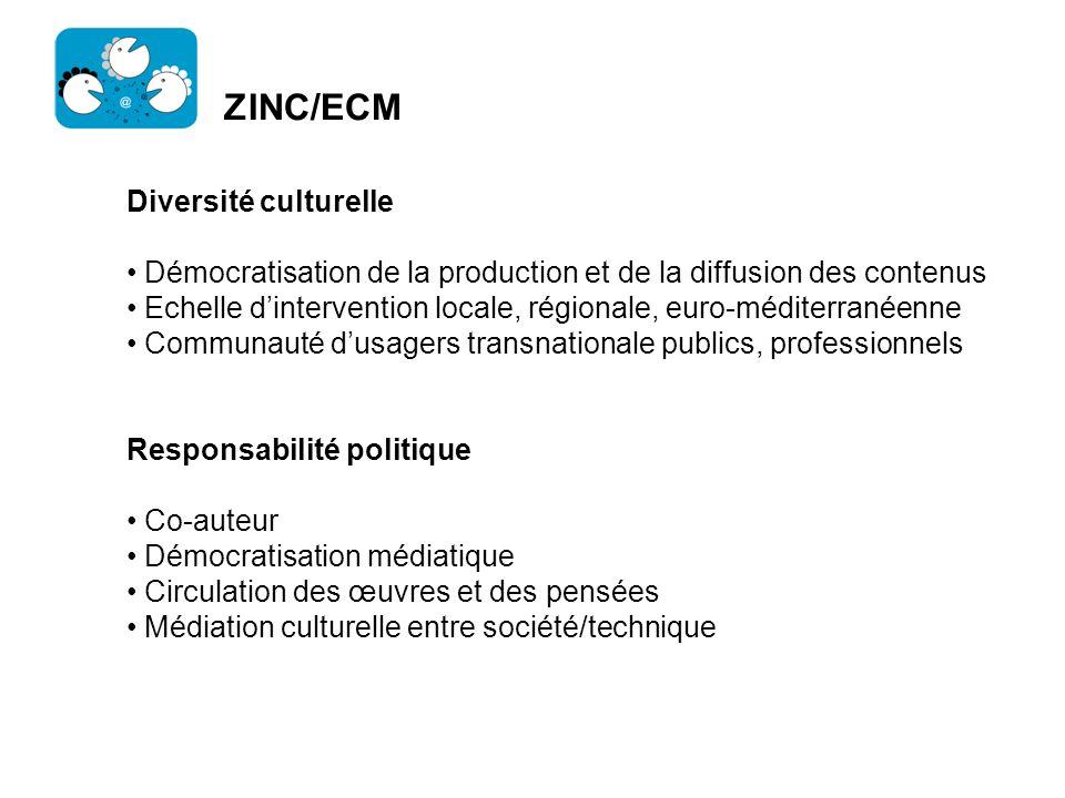 ZINC/ECM Diversité culturelle
