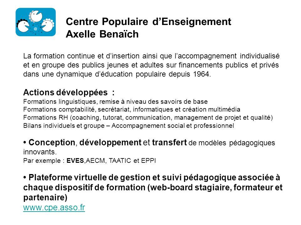 Centre Populaire d'Enseignement Axelle Benaïch