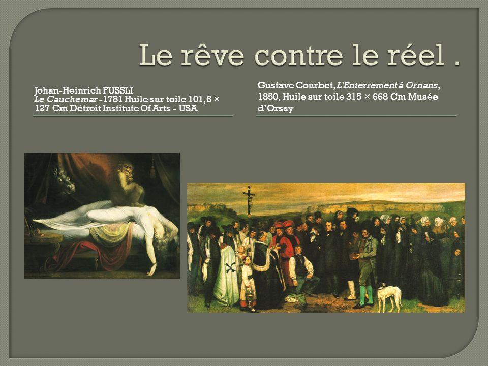 Le rêve contre le réel . Johan-Heinrich FUSSLI. Le Cauchemar -1781 Huile sur toile 101,6 × 127 Cm Détroit Institute Of Arts - USA.