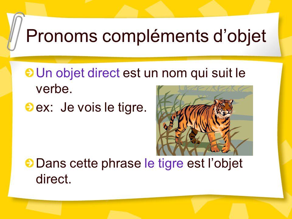 Pronoms compléments d'objet