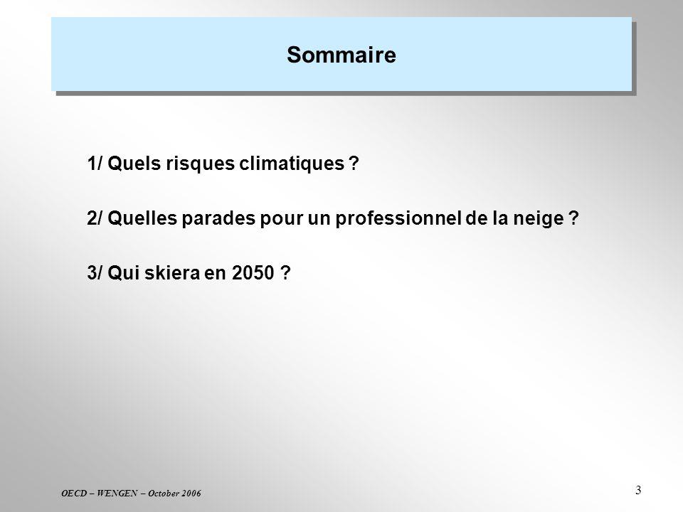 Sommaire 1/ Quels risques climatiques