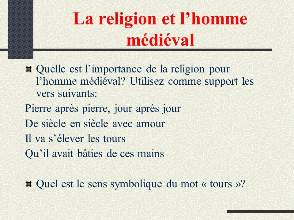 La religion et l'homme médiéval