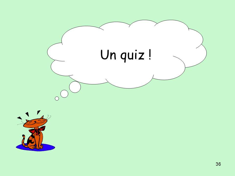 Un quiz !