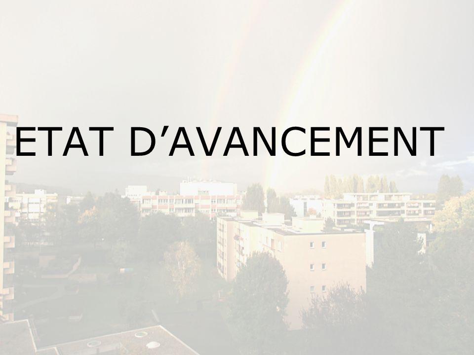 ETAT D'AVANCEMENT