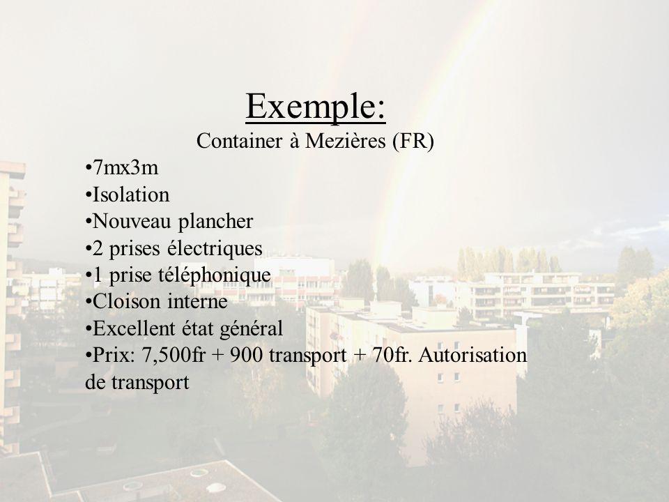 Container à Mezières (FR)