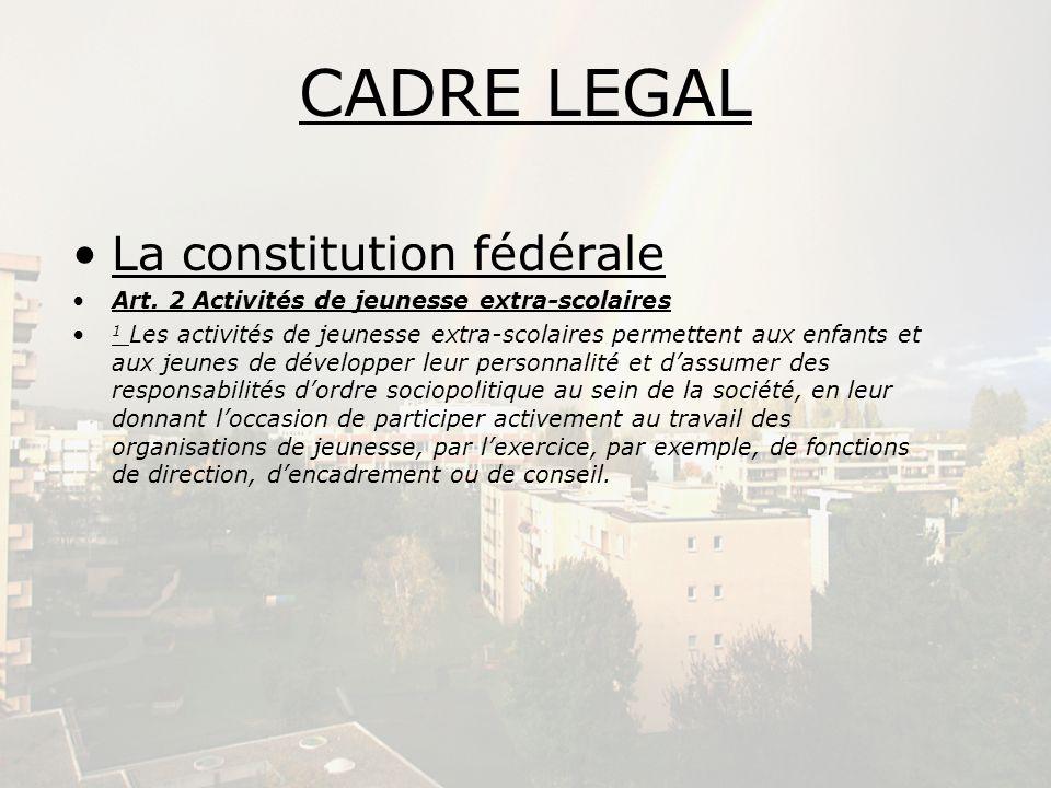 CADRE LEGAL La constitution fédérale