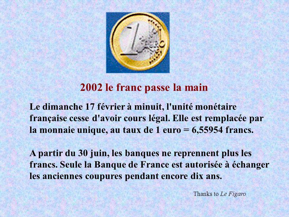 2002 le franc passe la main