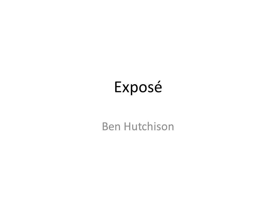 Exposé Ben Hutchison