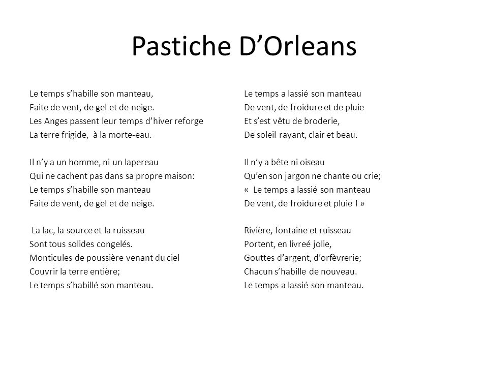Pastiche D'Orleans