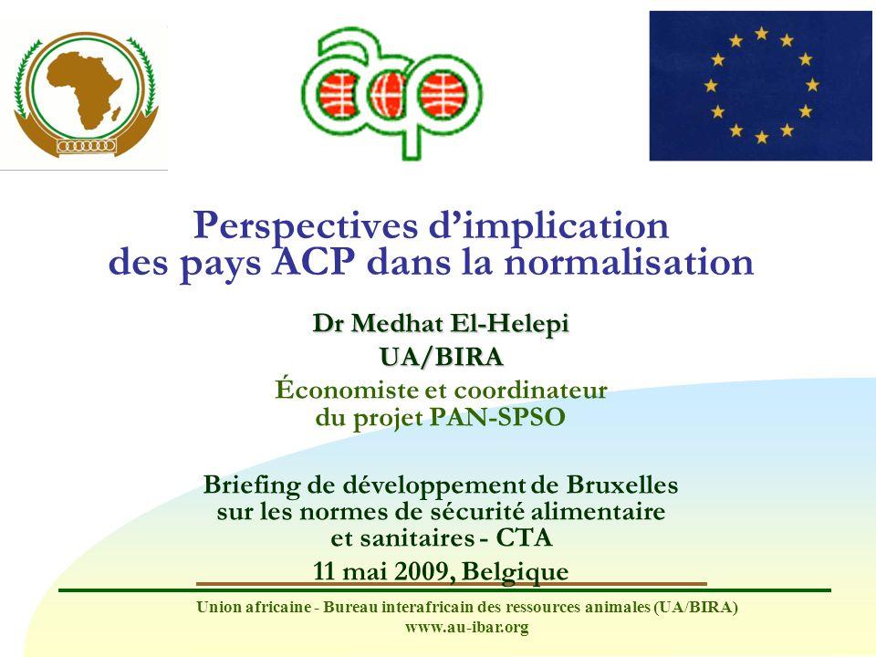 Perspectives d'implication des pays ACP dans la normalisation