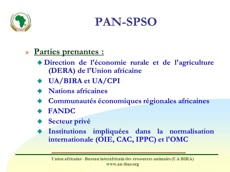 PAN-SPSO Parties prenantes :