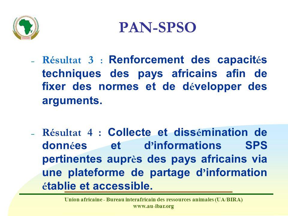 PAN-SPSO Résultat 3 : Renforcement des capacités techniques des pays africains afin de fixer des normes et de développer des arguments.