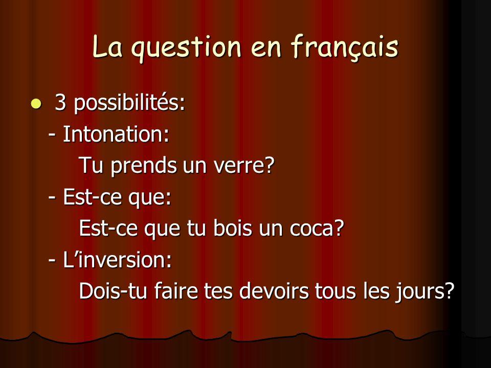 La question en français
