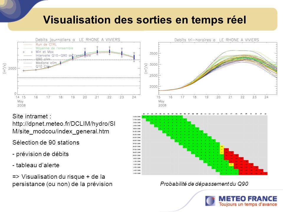 Visualisation des sorties en temps réel