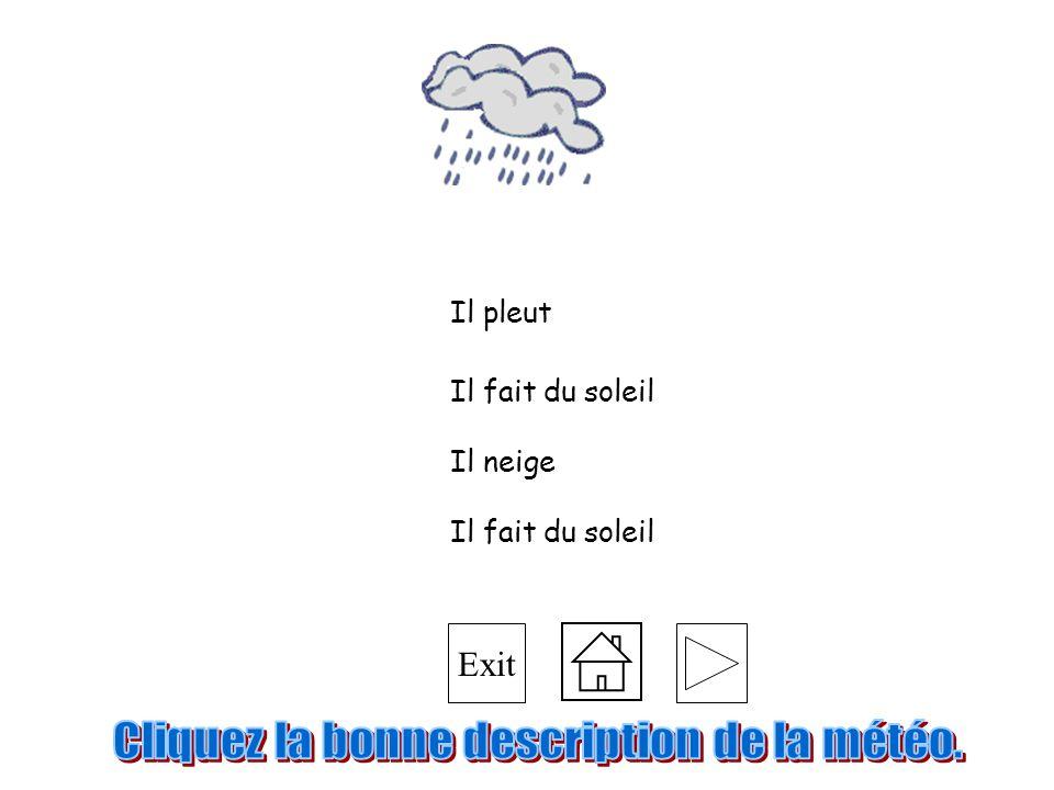 Cliquez la bonne description de la météo.