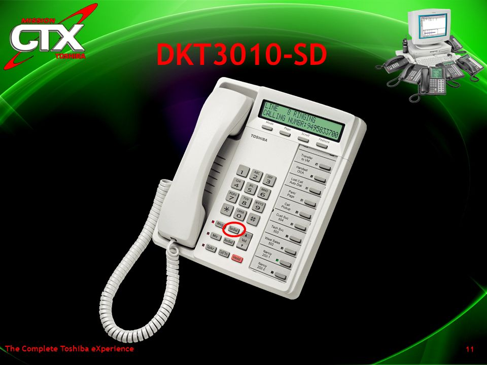 DKT3010-SD The DKT3010-SD rounds out our display line up and it has also been enhanced with the larger display and an additional soft key.