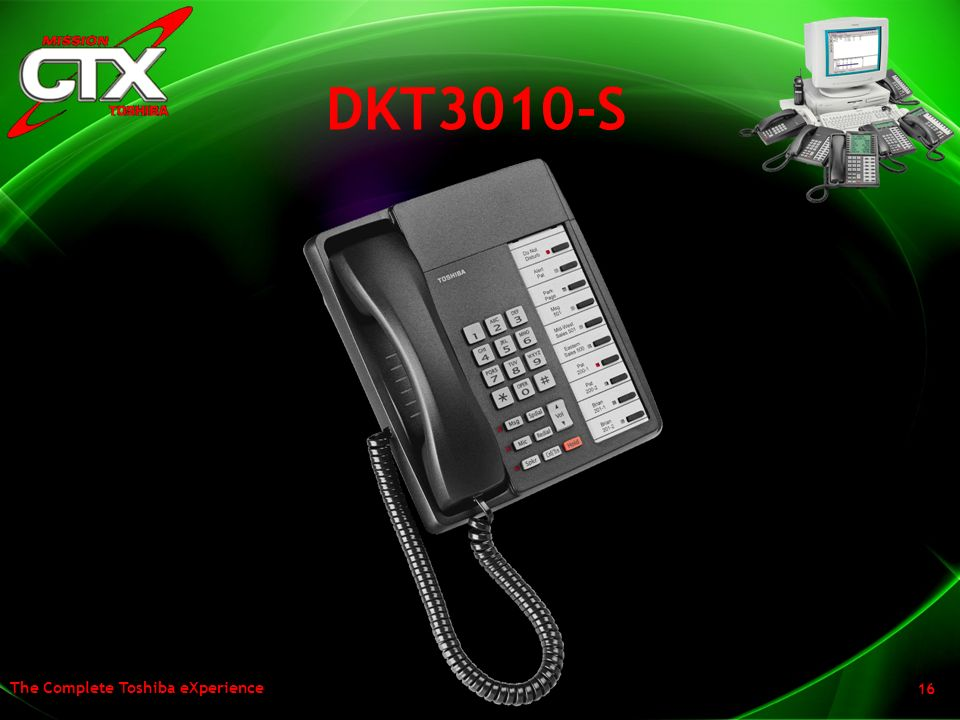 DKT3010-S Click through – spend a second or two on this slide showing them the 10 button non display set.