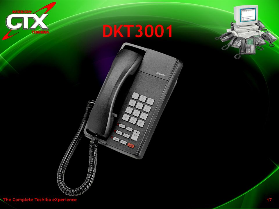 DKT3001 Here is a look at a the digital single line set with the new curved look.