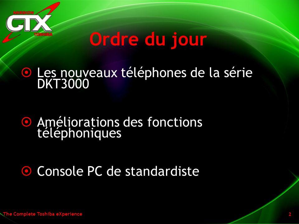 Ordre du jour Les nouveaux téléphones de la série DKT3000