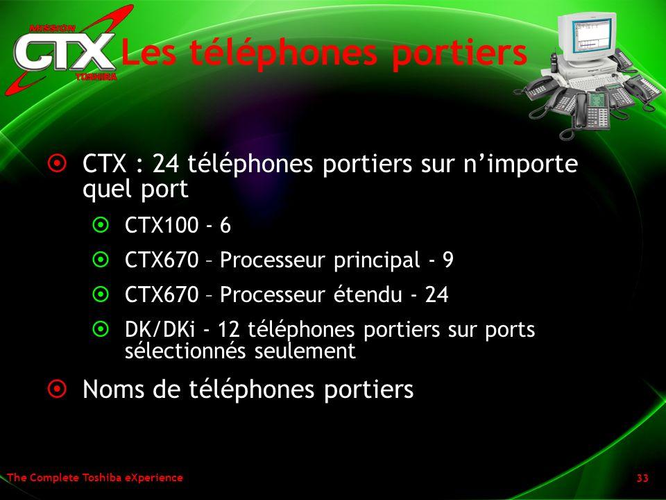 Les téléphones portiers