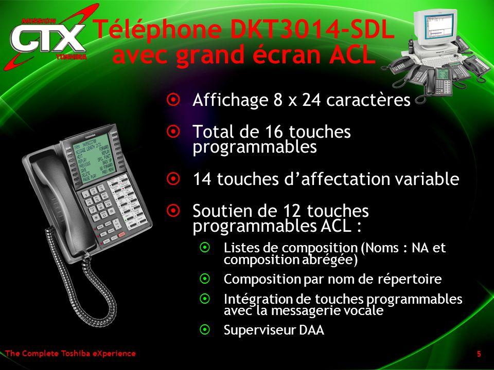 Téléphone DKT3014-SDL avec grand écran ACL