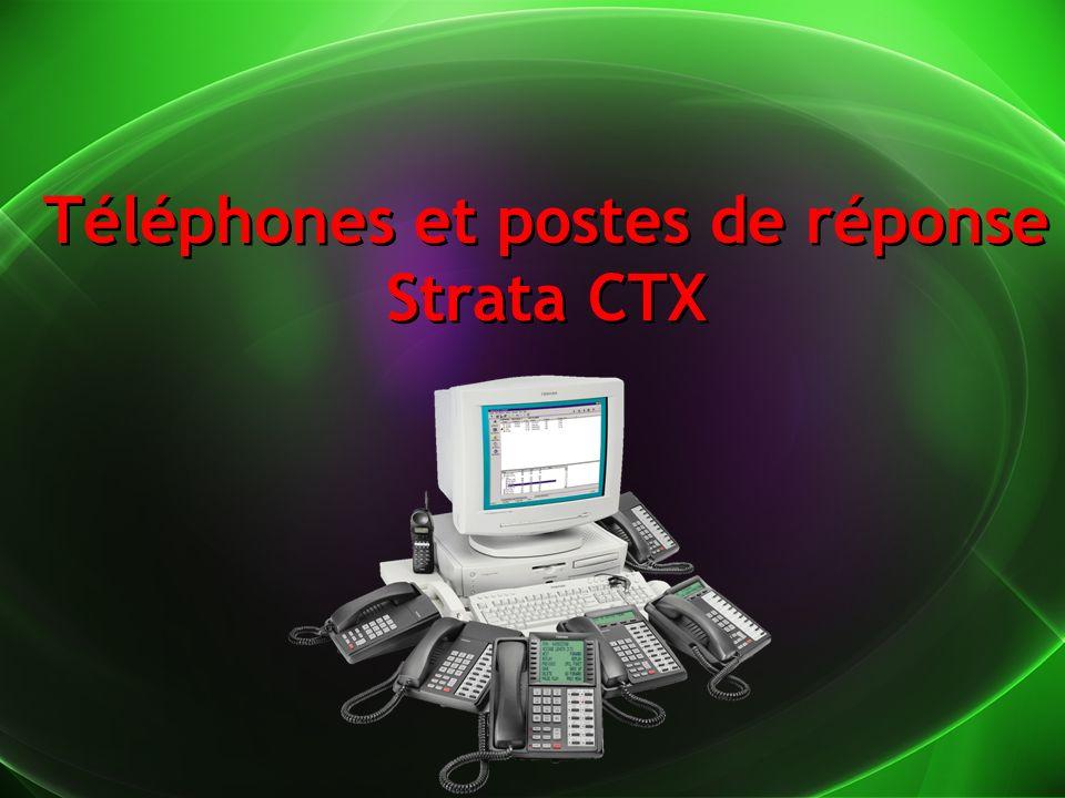 Téléphones et postes de réponse Strata CTX