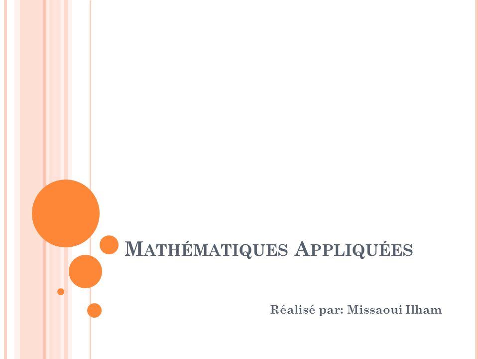 Mathématiques Appliquées