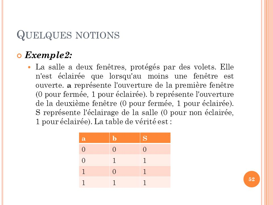 Quelques notions Exemple2:
