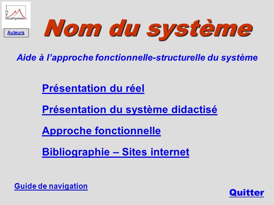 Aide à l'approche fonctionnelle-structurelle du système