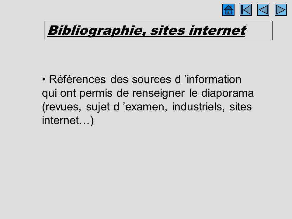 Bibliographie, sites internet