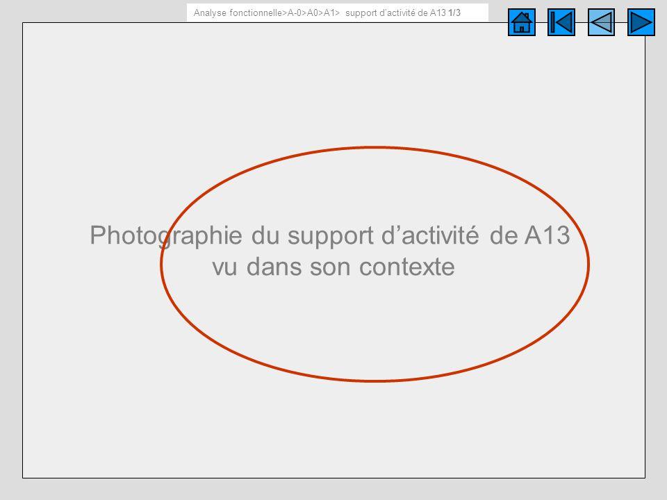 Support d'activité de A13 1/ 3