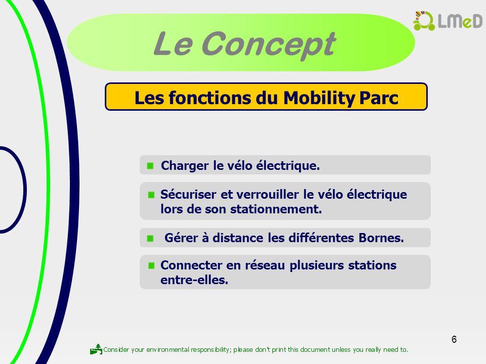 Les fonctions du Mobility Parc