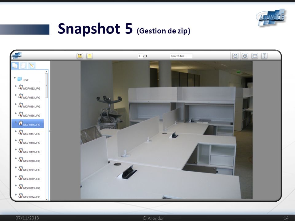 Snapshot 5 (Gestion de zip)