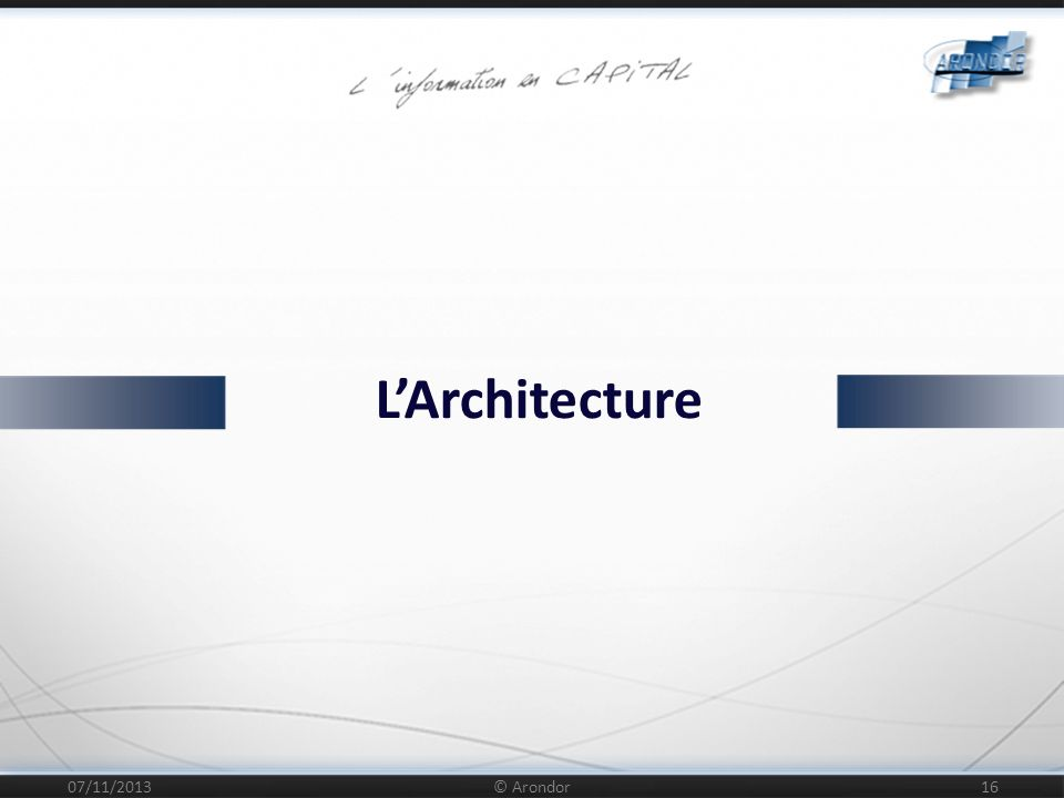 L'Architecture 25/03/2017 © Arondor