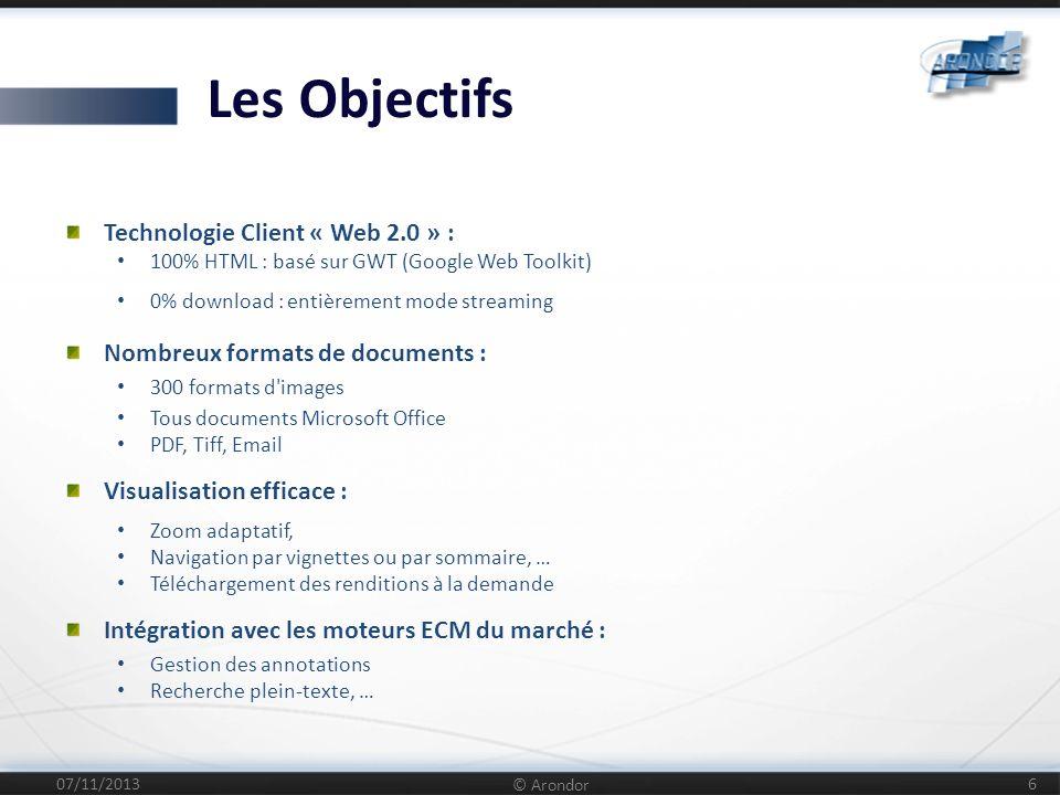Les Objectifs Technologie Client « Web 2.0 » :