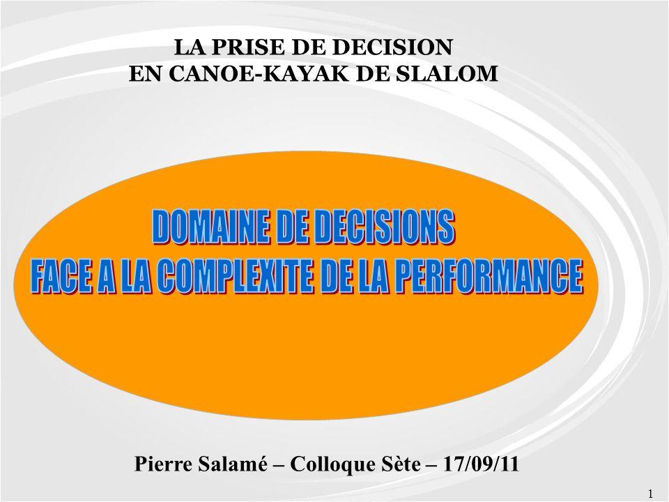 EN CANOE-KAYAK DE SLALOM Pierre Salamé – Colloque Sète – 17/09/11