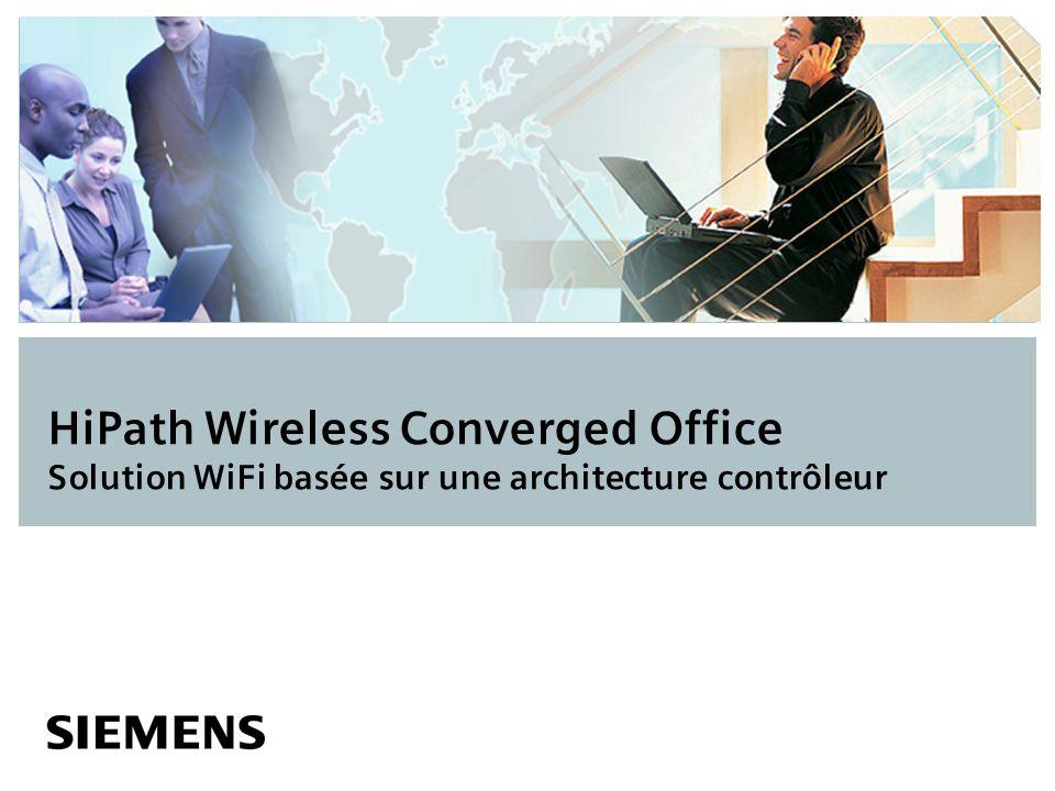 HiPath Wireless Converged Office Solution WiFi basée sur une architecture contrôleur