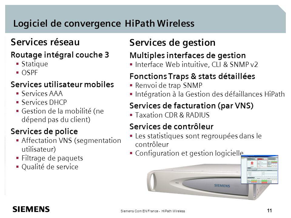 Logiciel de convergence HiPath Wireless